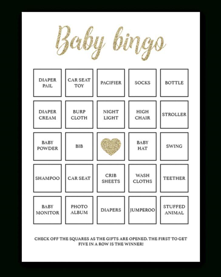 Printable Bingo Card For Baby Shower
