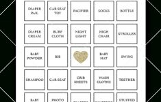 Printable Baby Shower Bingo Cards Gold | Baby Shower Bingo
