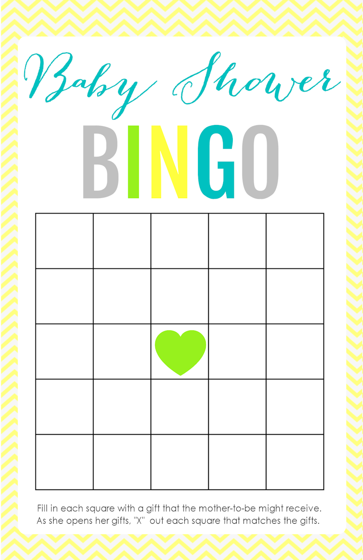 Printable Baby Shower Games - The Girl Creative