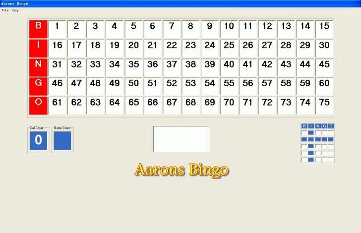 Bingo Caller Cards Printable