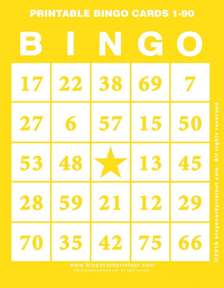 Bingo Card Numbers Printable