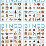 Printable Bingo Cards: Fun Fall Classroom Party Activity