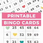 Printable Bingo Cards   Game Night Idea!   Bingo Cards