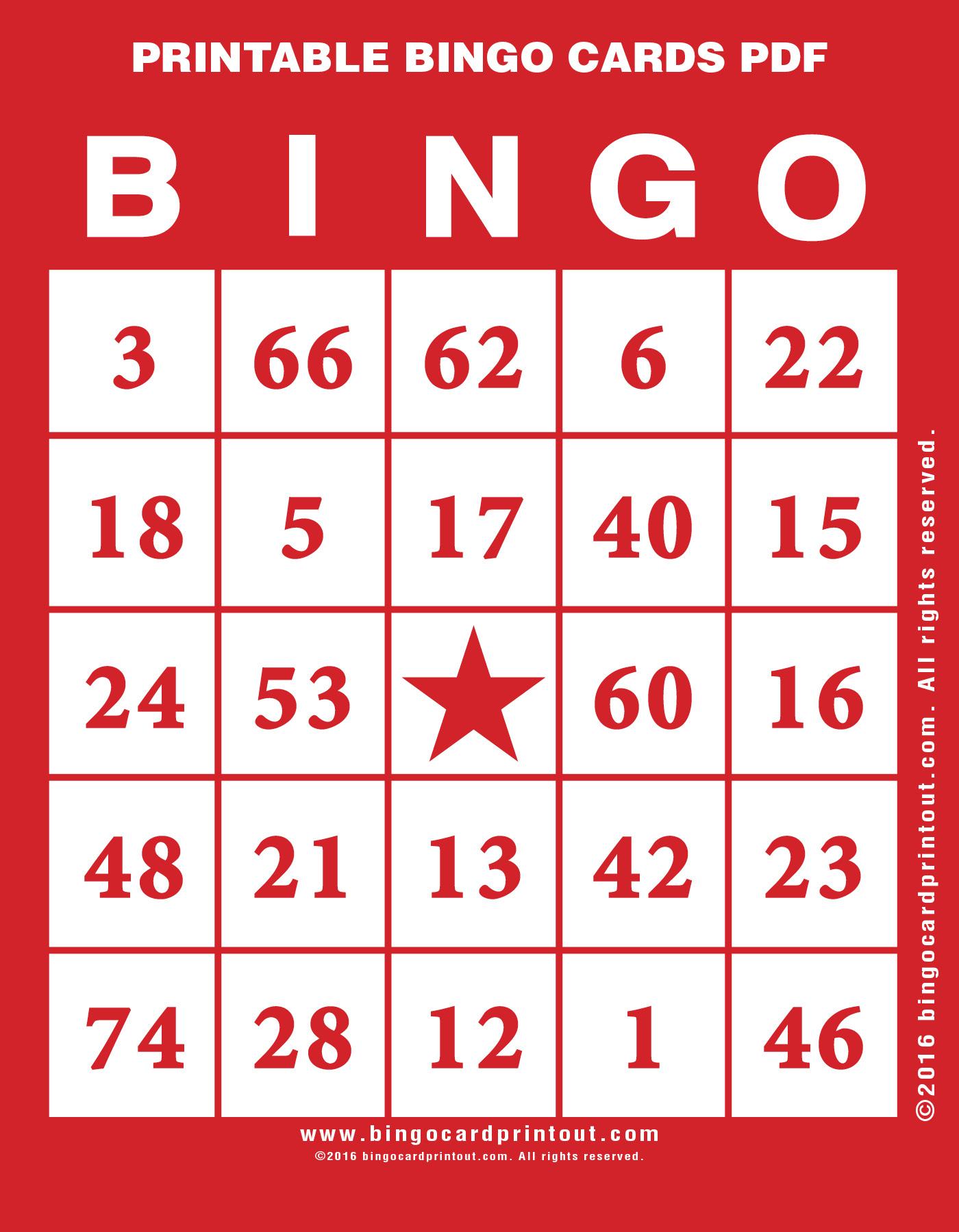Printable Bingo Cards Pdf - Bingocardprintout