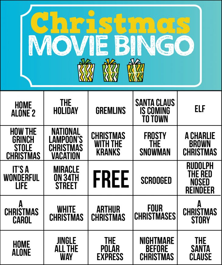 Free Printable Christmas Song Bingo Cards