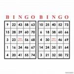 Printable Bingo Numbers 1 75   Printabler
