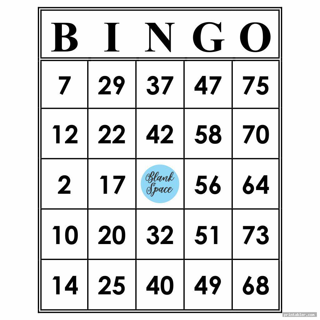 Printable Bingo Numbers 1-75 - Printabler