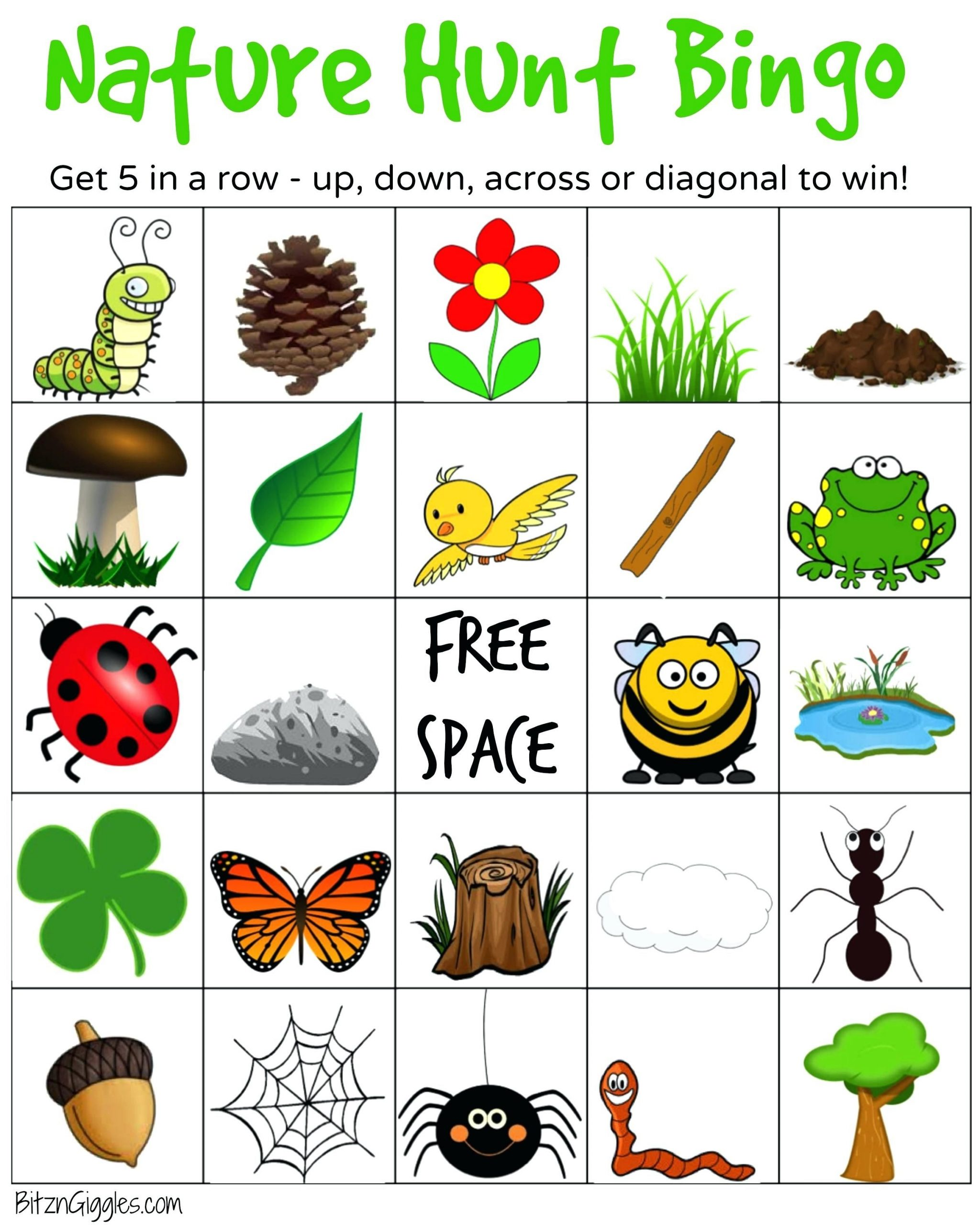 Printable Camping Bingo Cards Nature Hunt A Super Fun