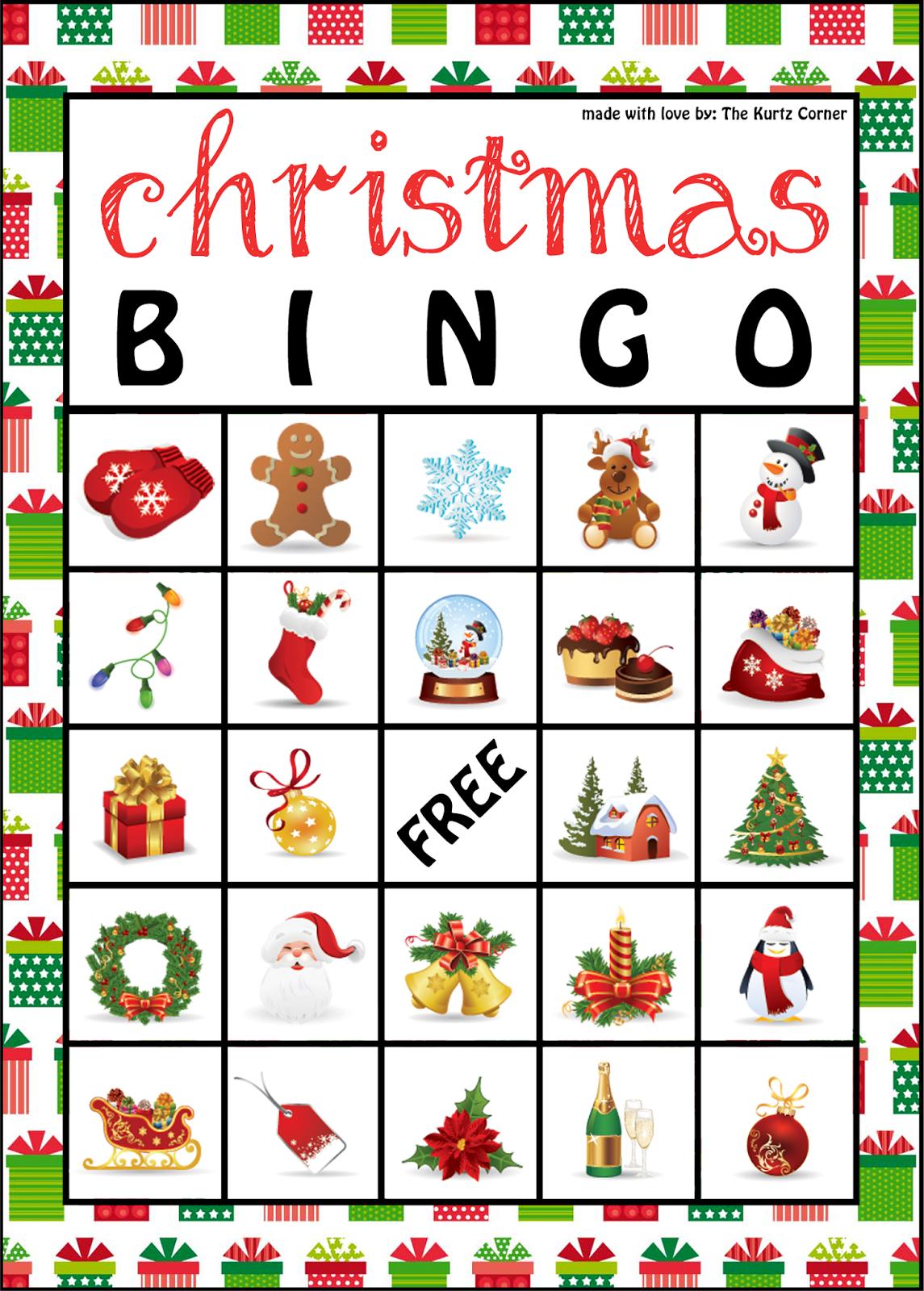Printable Christmas Bingo Clipart