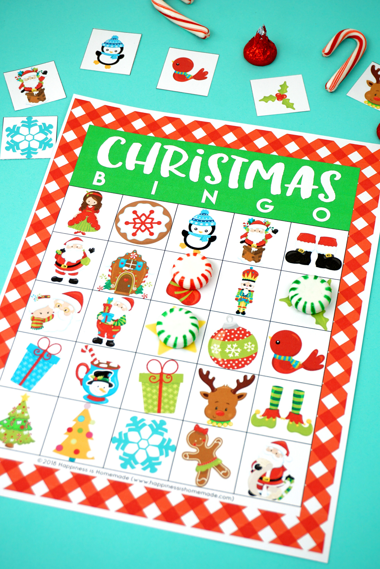 Printable Christmas Bingo Game - Happiness Is Homemade