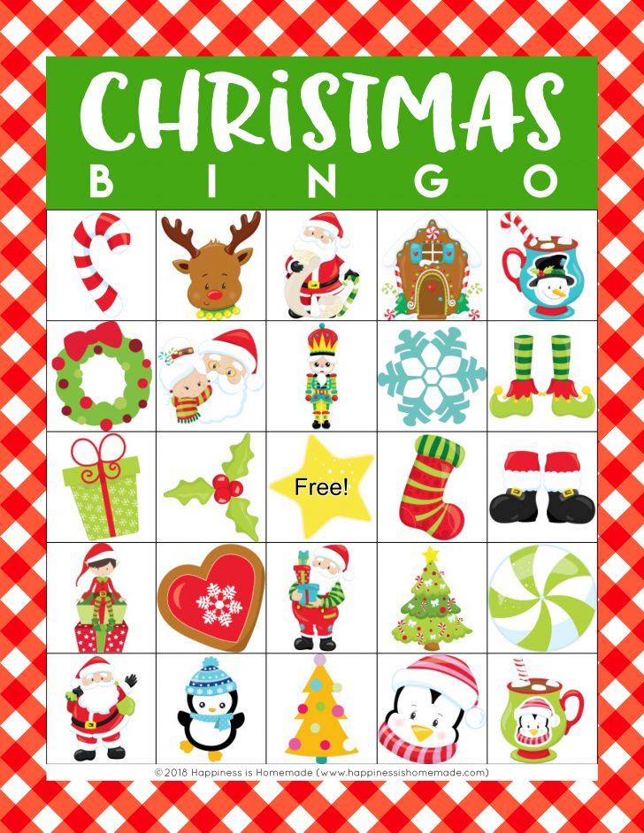 Christmas Bingo Card Pattern Printable