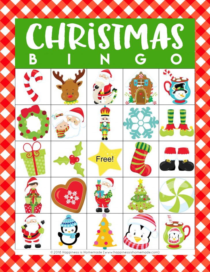 Free Printable Picture Christmas Bingo Cards