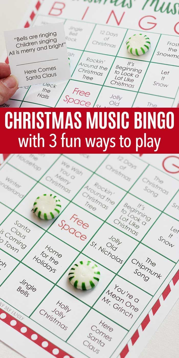 Printable Christmas Music Bingo With 3 Fun Ways To Play