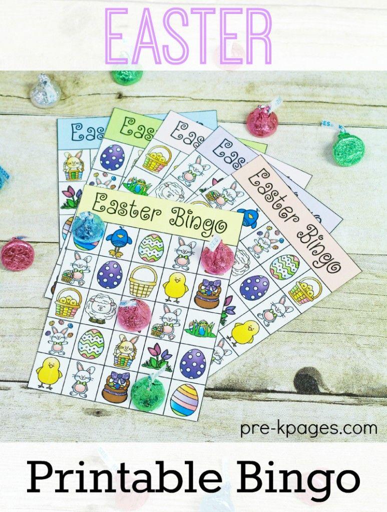 Printable Easter Bingo Game | Easter Bingo, Easter
