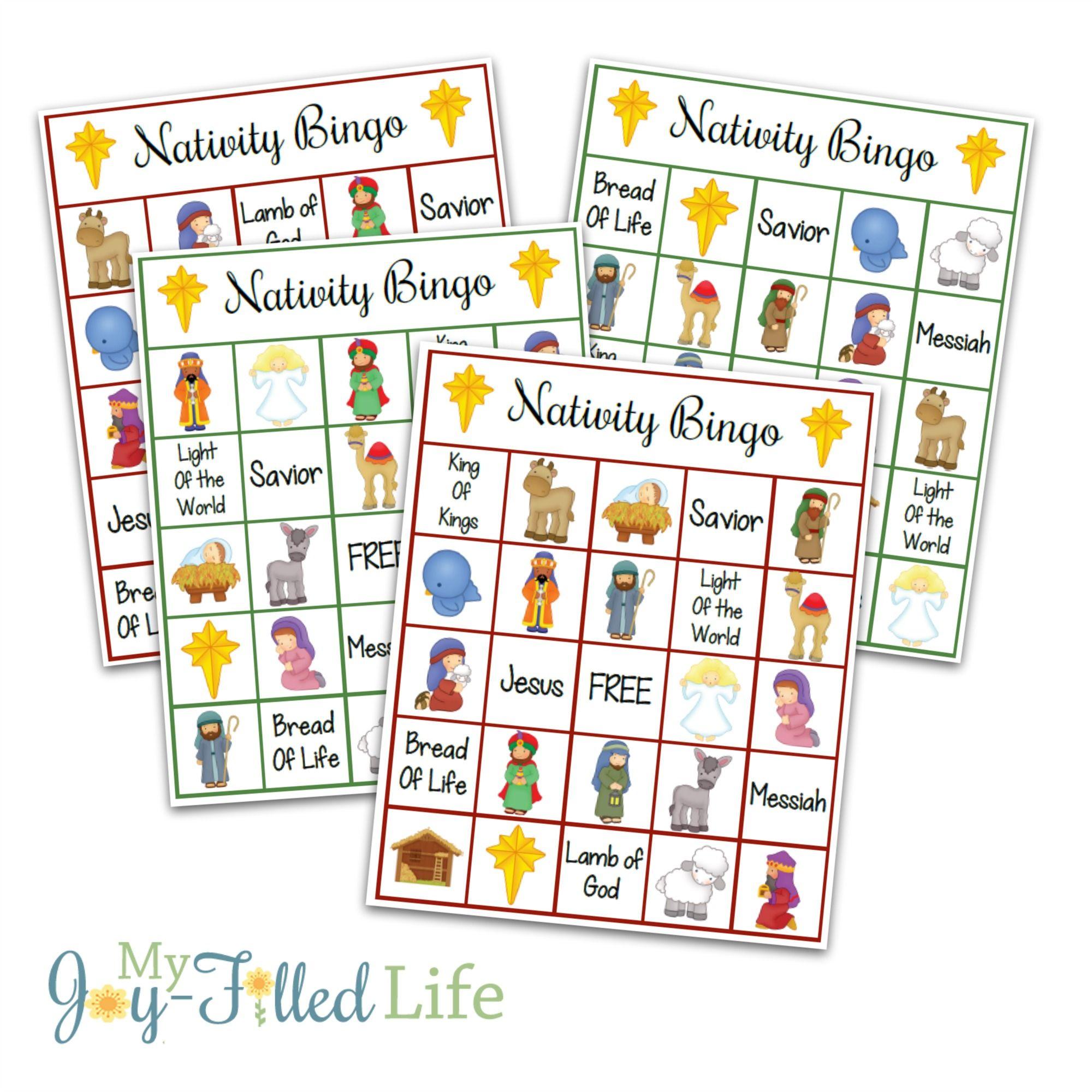 Printable Nativity Bingo   Christmas Games For Kids