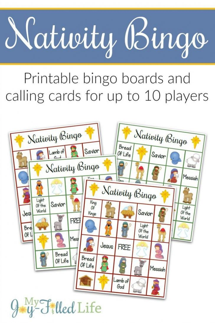 Printable Religious Bingo Cards