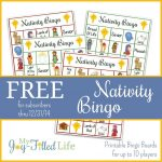 Printable Nativity Bingo | Nativity Bingo, Printable