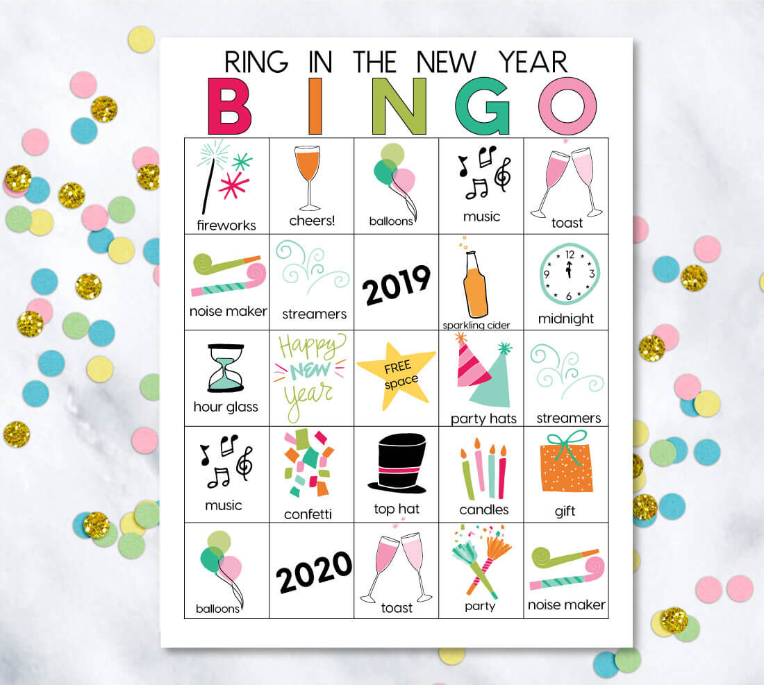 Printable New Year's Eve Bingo Sheets