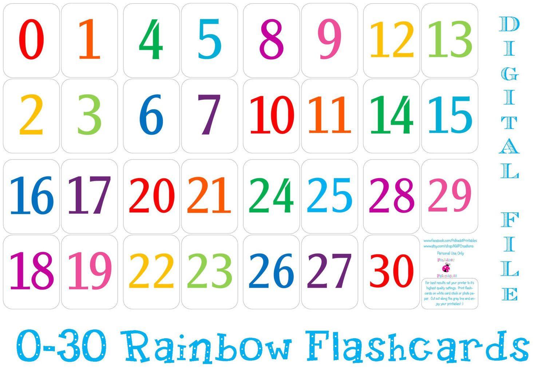 Printable Number Cards 1 30 | Printable Numbers, Free