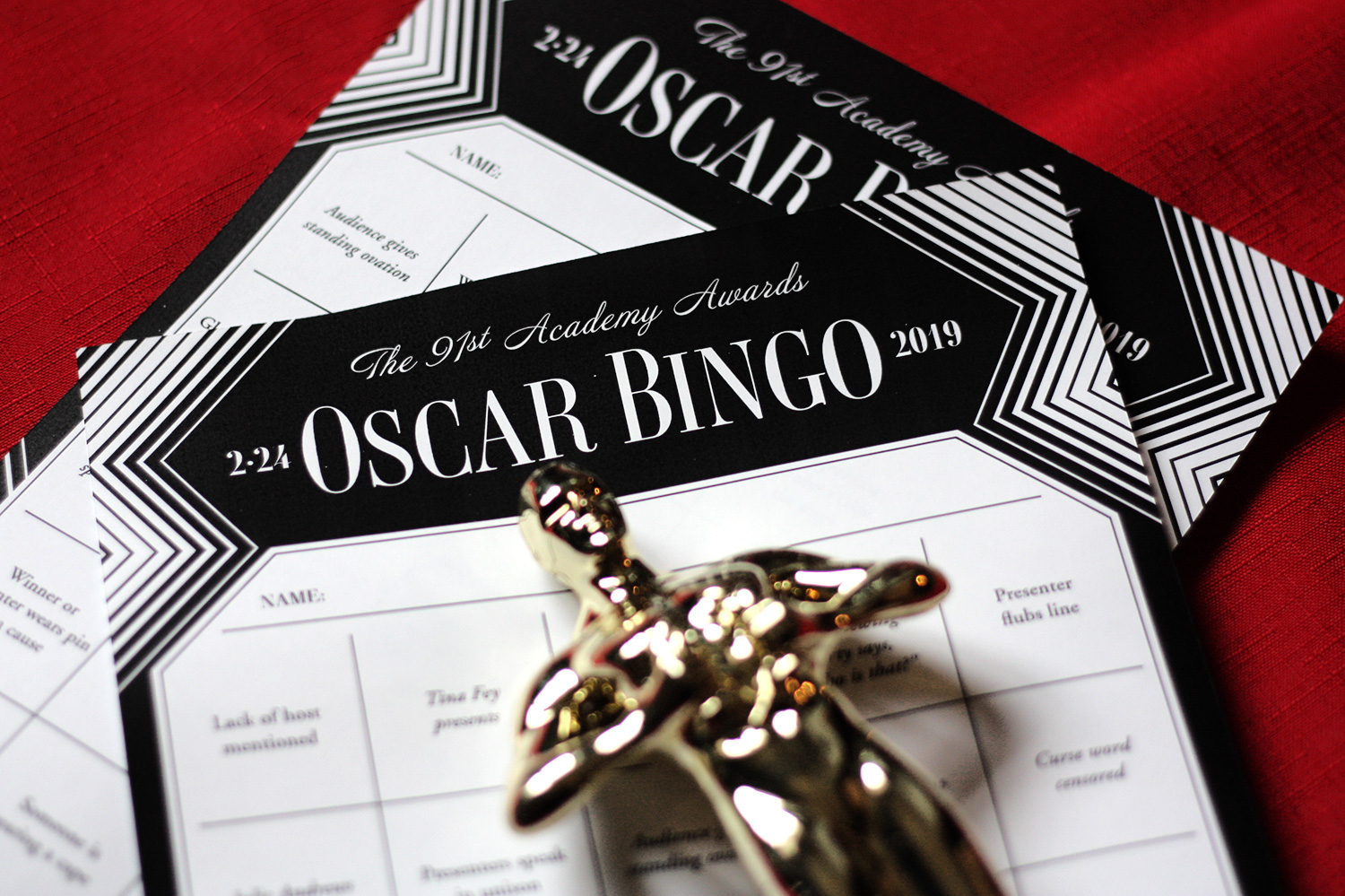 Printable Oscars Bingo | Updated With 2019 Oscars Presenters