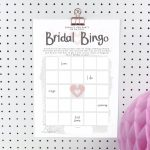 Printable Personalised Bridal Bingo Hen Party Game, Hen Party Game Download.