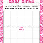 Printable Personalized Baby Shower Bingo Cards • Baby