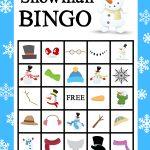 Printable Snowman Bingo Game   Bingo, Kerst Knutselen En