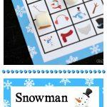 Printable Snowman Bingo Game   Crazy Little Projects