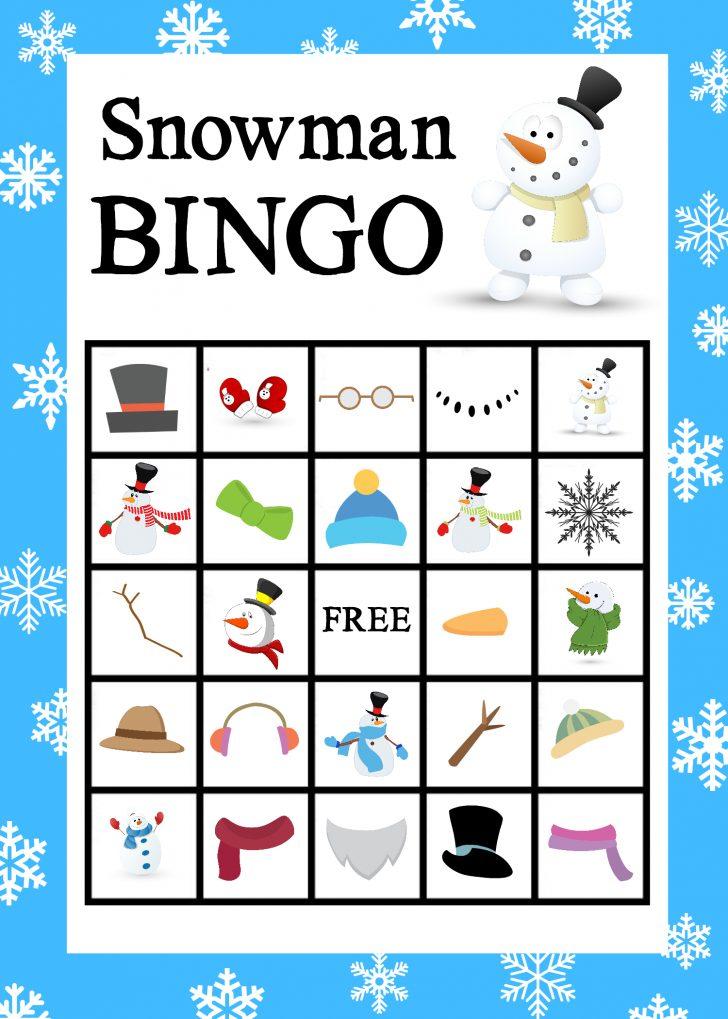 Winter Holiday Bingo Cards Printable Free