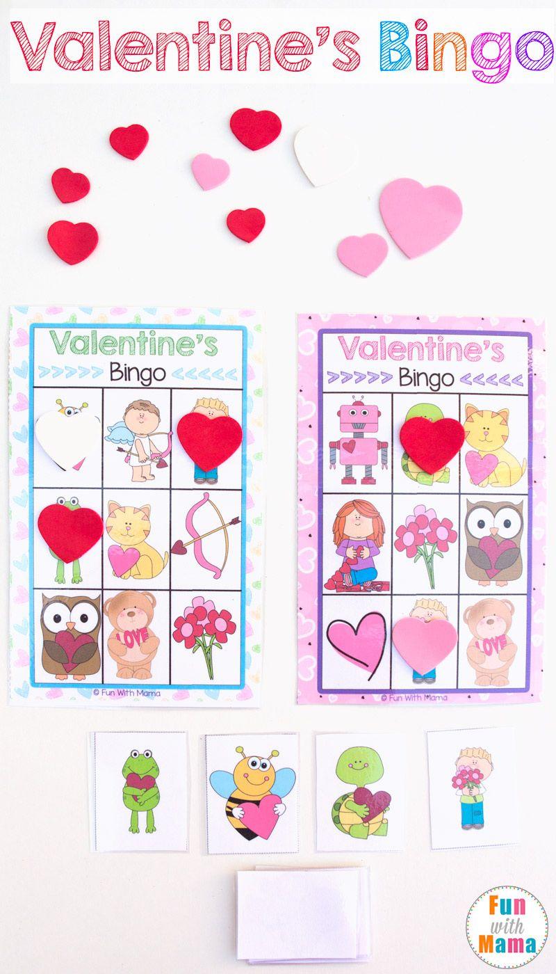 Printable Valentine's Bingo Game   Valentines Games