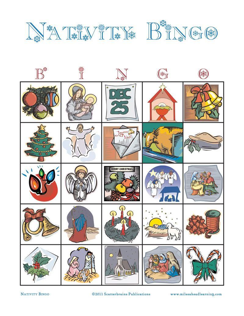Printable+Nativity+Bingo+Cards | Christmas Bingo Printable