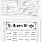 Quilters Bingo   Quilt Retreats   Free Bingo Cards, Free