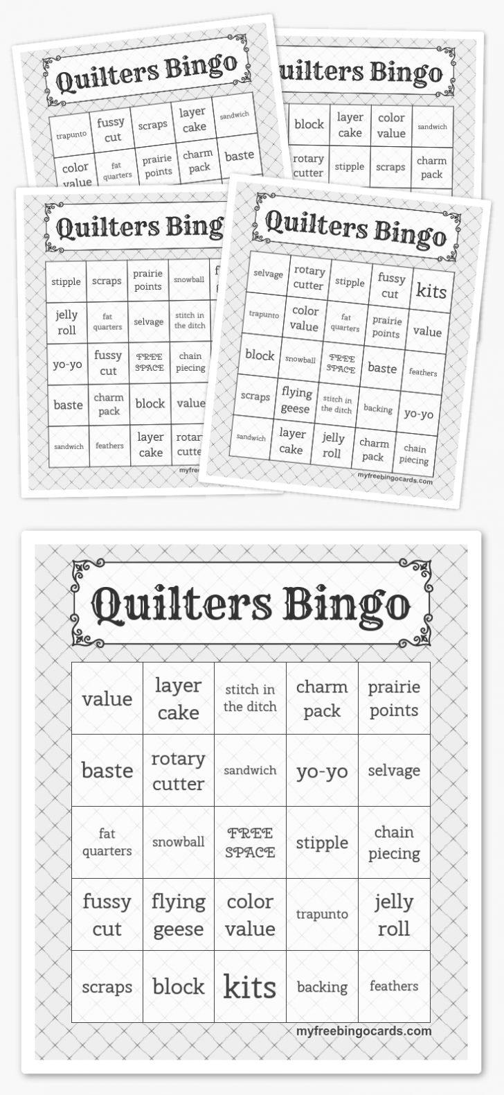 Printable Quilt Bingo Cards