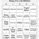 Relay For Life Bingo. Made With Relay For Life And American