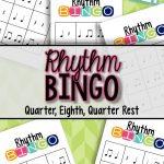 Rhythm Bingo Freebie: Quarter, Eighth, Quarter Rest