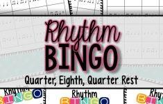 Rhythm Bingo: Quarter, Eighth, Quarter Rest | Bingo