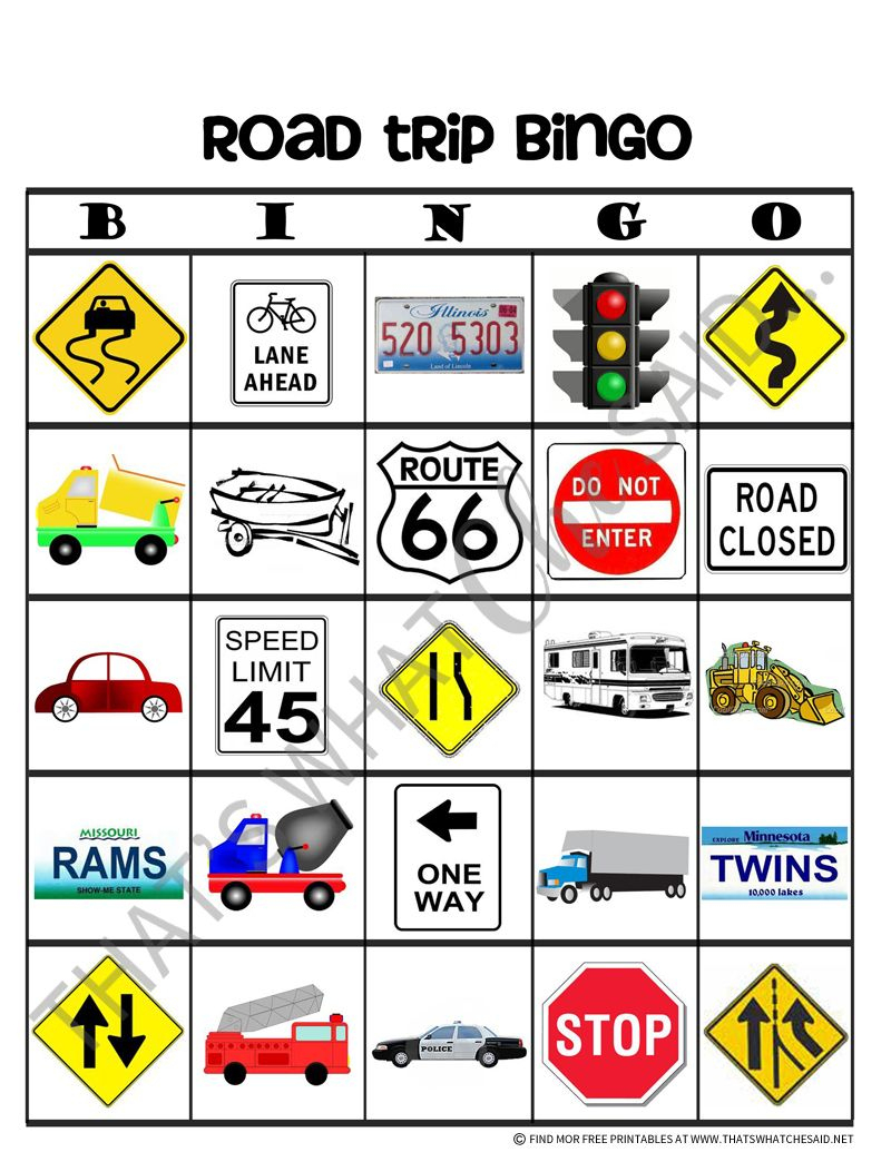 Road Trip Bingo Free Printables | Road Trip Bingo, Road Trip