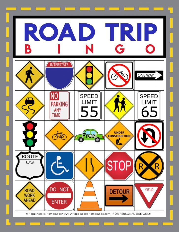 Printable Car Trip Bingo Cards