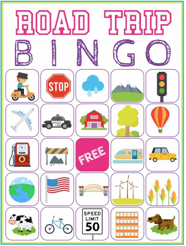 Road Trip Bingo Cards Printable