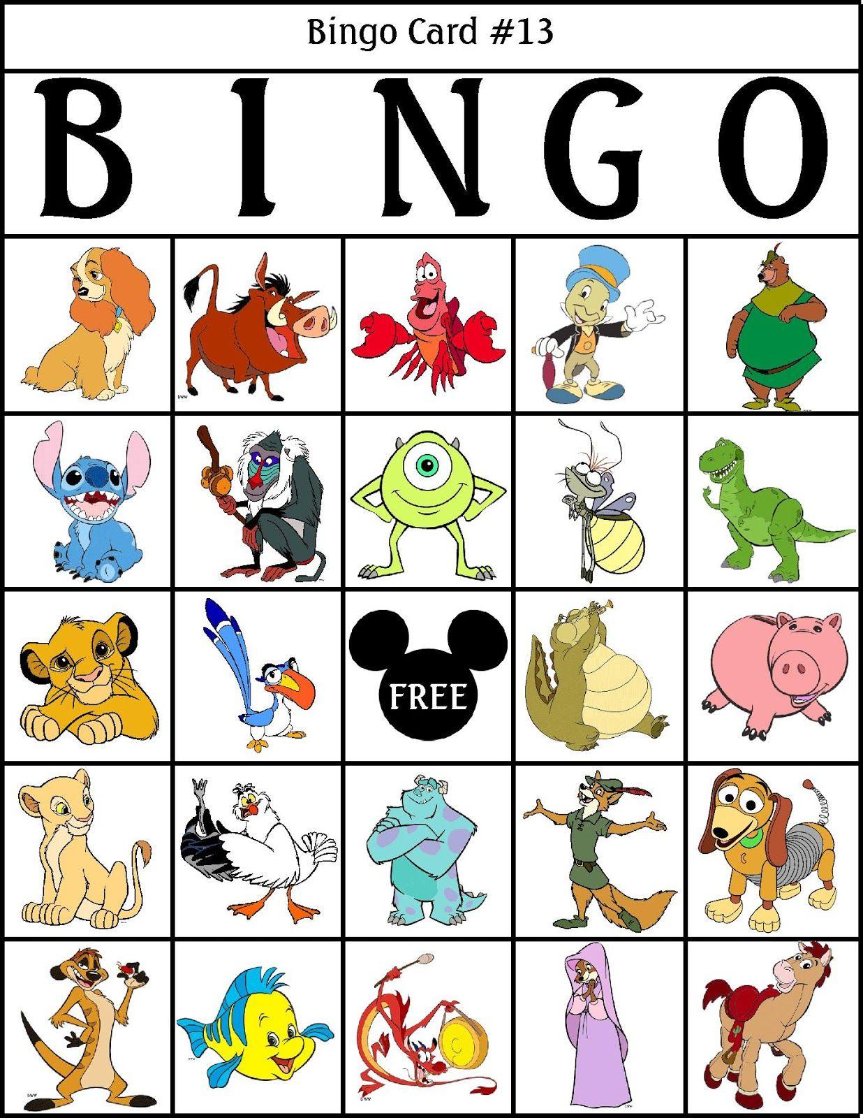 Robbygurls Creations Printable Disney Bingo | Disney