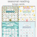 Seasonal Reading Bingo Cards | Reading Bingo, Bingo Cards