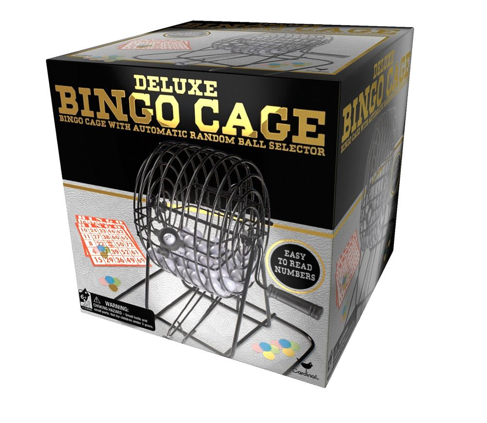 Set Cage Game Balls Mixing Kit Deluxe Wire Metal Bingo Cards