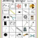 Sewing Bingo Board Game Printable   Craftsy   Bingo