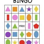 Shape Bingo Card   Free Printable   I'm Going To Use This To