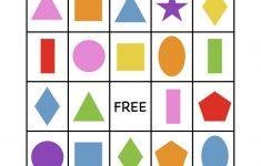 Shape Bingo Card – Free Printable – I'm Going To Use This To