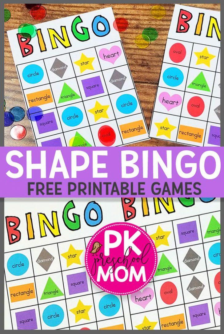 Printable Shape Bingo Cards Free