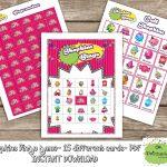 Shopkins Bingo Game (Include 15 Different Cards)  Shopkins