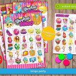 Shopkins Bingo Game   Printable Birthday Party Games