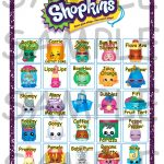 Shopkins Birthday Party Bingo Game 20 Cards **instant
