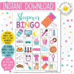 Sleepover / Slumber Party Printable Bingo Cards (30